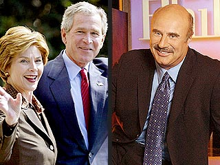 President Bush Gets Cozy with Dr. Phil