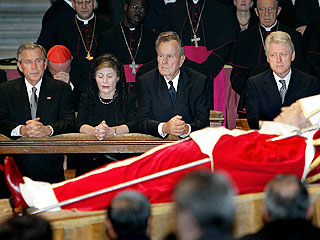 President Bush Pays Respects to the Pope