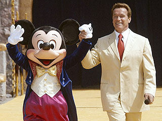 Mickey, Arnie Mark Disneyland's Birthday