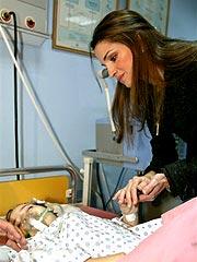 Jordan's Queen Rania Visits Bomb Victims