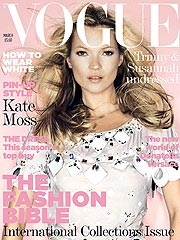 Kate Moss Appears Back in Fashion