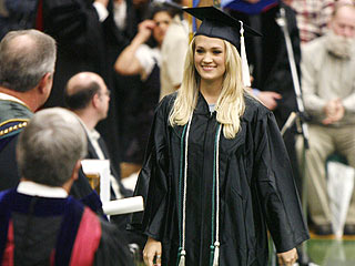 Idol Winner Carrie Underwood Graduates