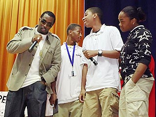 Diddy Tells School Kids: Don't Drop Out
