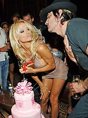 Pam Anderson Parties All Night for 40th Birthday