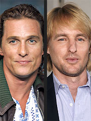 Matthew McConaughey to Replace Owen Wilson in Film