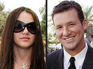 Britney Spears Parties with Tony Romo