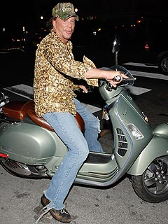 Mickey Rourke Arrested for DUI – on a Vespa