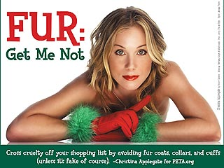 Christina Applegate Poses for Revealing PETA Card