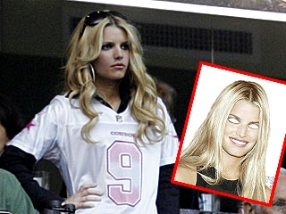 Fans Offered Jessica Simpson Masks at Dallas Games