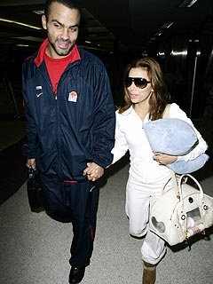Eva Longoria and Tony Parker Arrive in Texas