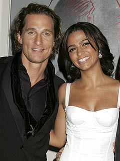 Matthew McConaughey and Camila Alves Bring Levi Home