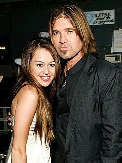 Billy Ray and Miley Cyrus Warm Up for CMT Awards