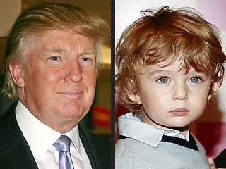 Hair Apparent: Donald Trump & Son Barron&#39;s Lookalike Locks