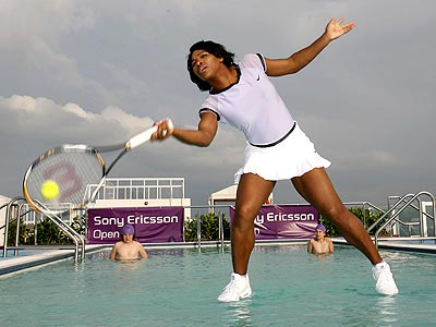 FIRST LOOK: Serena Williams Plays Tennis on Water