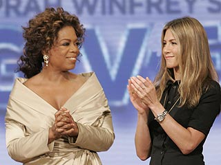 Jen Aniston Becomes One of Oprah&#39;s Big Givers