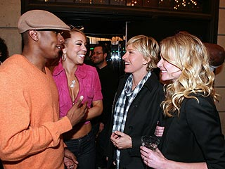 Mariah Carey and Nick Cannon Celebrate Ellen's Birthday