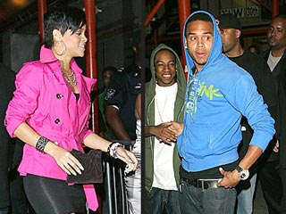 Rihanna and Chris Brown's Date Night