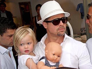 The Jolie-Pitts Shop for the Babies in Cannes