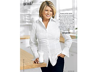 FIRST LOOK: Martha Stewart's Milk Mustache