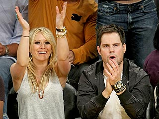 Hilary Duff, David Beckham Out for Lakers Victory