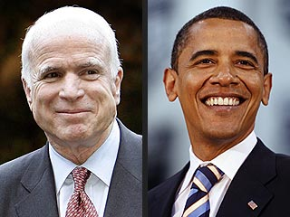 McCain and Obama Race Toward Finish Line