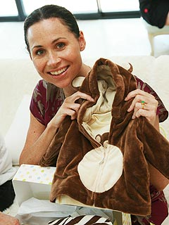 Minnie Driver Enjoys Casual Baby Shower