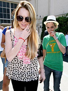 Lindsay Lohan Turns 22 with Samantha Ronson at Her Side