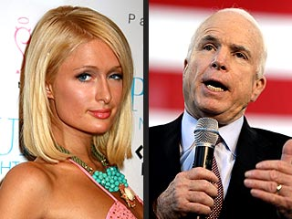 Paris Hilton's Cold Reaction to John McCain Commercial