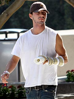 Shia LaBeouf Shows Off His New Cast