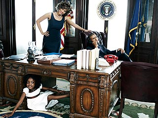 Tyra Channels Michelle Obama In Bazaar Photo Spread