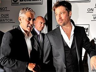 George & Brad Enjoy a Guys' Night in Venice
