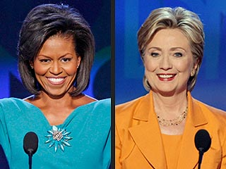 Hillary Clinton and Michelle Obama Trade Compliments in Denver