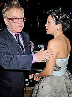 Elton John and Lily Allen Clash at Awards Show