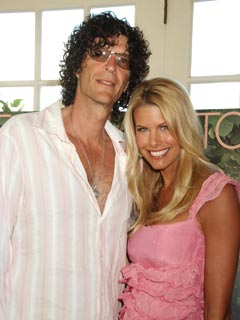 Howard Stern with Moglie Beth Ostrosky