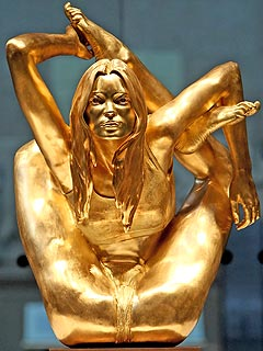 Golden Kate Moss Statue Revealed