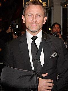 Bond's Daniel Craig Explains Shoulder Sling