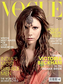 Victoria Beckham Poses as a Bride – in India
