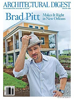 Brad Pitt 'High' From New Orleans Rebuilding Project