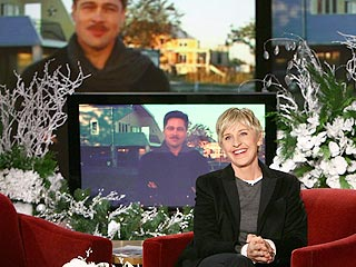 Brad Pitt Advises Ellen on 'Catching' George Clooney