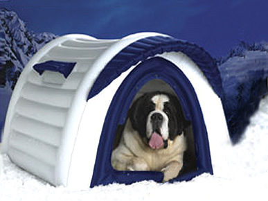 Blow Up Doghouse Sure Is Hot!