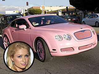 Paris Hilton Picks Up a Hot Pink Bentley