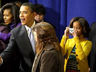 Malia Obama Plays Photographer on Mom's Birthday