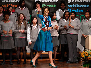 Michelle Obama Wows London Schoolgirls