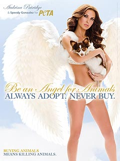 FIRST LOOK: Audrina Patridge Plays a PETA Angel