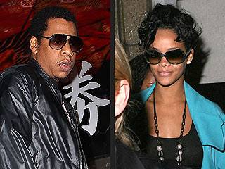 Rihanna and Jay-Z Talk Shop Over Sushi