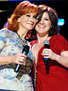 Reba and Kelly Clarkson