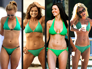 poll who is hotter in her green bikini   bodywatch