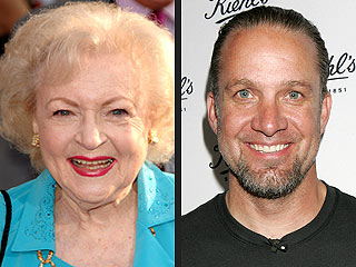 Betty White and Jesse James Have Flirt-Fest On Set