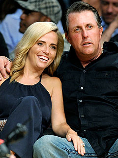 Amy Mickelson Surprises Husband Phil at Golf Tournament