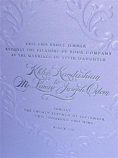 PHOTO: Khloe and Lamar's Wedding Invite